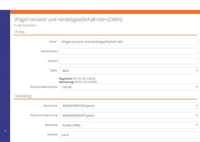 Σελίδα επεξεργασίας δεδομένων του B2Run