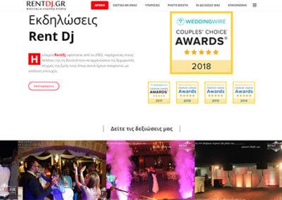 Αρχική σελίδα ιστοσελίδας Rentdj.gr