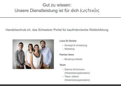 Πληροφορίες για την Handelsschule.ch